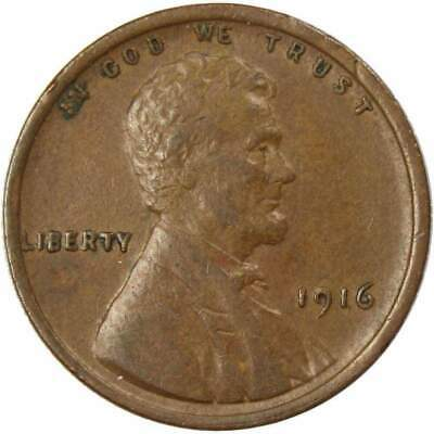 1916 1c Lincoln Wheat Cent Penny XF EF Extremely Fine