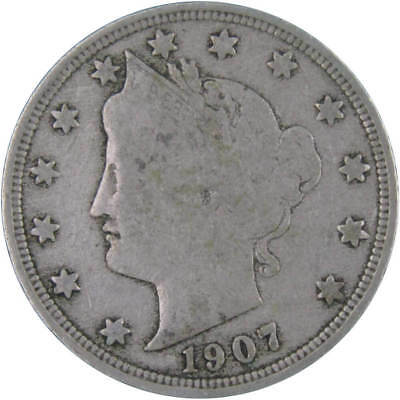 1907 Liberty Head Nickel About Fine