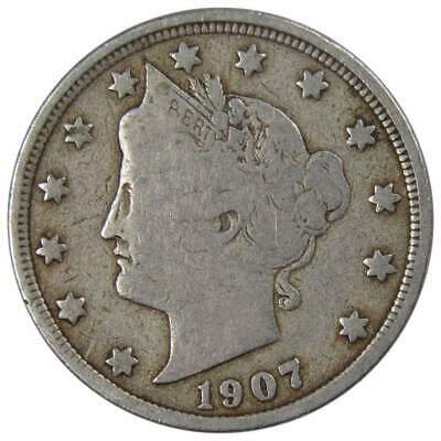 1907 Liberty Head V Nickel Average Circulated