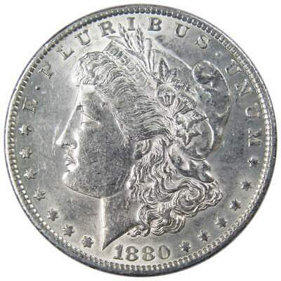 1880 O $1 Morgan Silver Dollar US Coin AU About Uncirculated