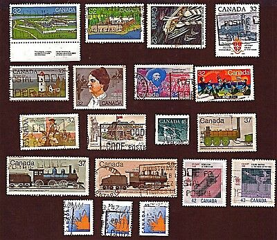 CANADA 19 1983-95 FORTS, SHIPS, OLYMPIC GAMES +Stamps, Used, See Descr   FUS729