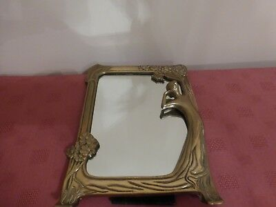 Vintage  Art Deco Style Nude Lady - Brass  Ladies Dressing Table Mirror