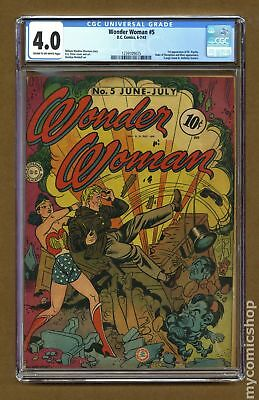 Wonder Woman (1st Series DC) #5 1943 CGC 4.0 1239109025