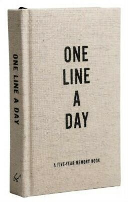 Canvas One Line a Day: A Five-Year Memory Book (Diary)