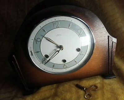 "Smiths ""Tempora"" Westminster Chime Mantel Clock. Working Order."
