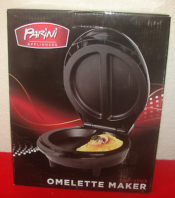 Parini Appliances Non-Stick Omelette Maker Electric Sandwich Maker NIB