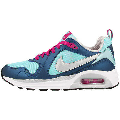 the latest 9c125 b253d Nike Air Max Trax Chaussures de Sport Baskets 644470-402 Bleu Argent Rose 90
