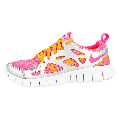 separation shoes a9b79 a1248 Nike Free Run 2 Gs Chaussures Baskets Sneaker de Course Rose Métallique