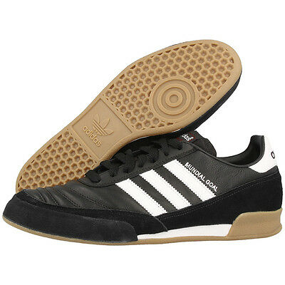 04a62b6265db ADIDAS MUNDIAL GOAL indoor soccer sneakers shoes black new leather ...