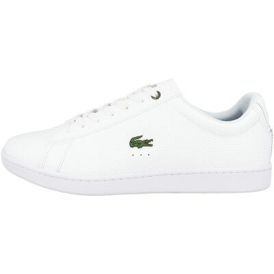 19f73cd28f Lacoste Carnaby Evo 118 2 Cuir Baskets Chaussures pour Hommes Blanc 7  35SPM0005