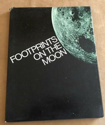 Footprints On The Moon Associated Press Copyright 1969 space vintage book nasa