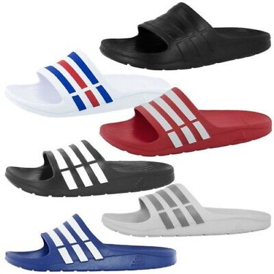 sports shoes 1c420 1bde5 Adidas Duramo Slide Homme Tongues Chaussures de Baignade Sandales Mocassins