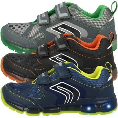 246997e196b4fb Geox J Android B.A Chaussures de GS LED Enfants Low Cut Sport Baskets