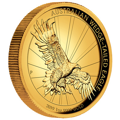 Australien 100 Dollar 2019 Wegde Tailed Eagle 1 Oz Gold PP High Relief