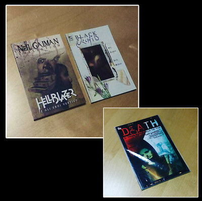Neil Gaiman: Black Orchid + Death (Magic Press) + Hellblazer e gli Eroi Vertigo