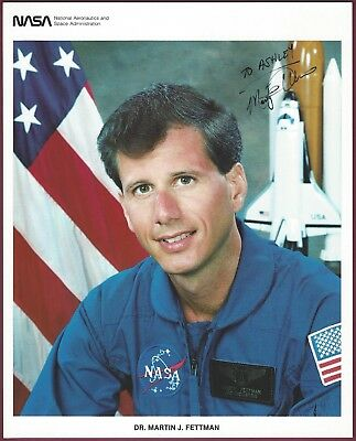 "Dr. Martin J. Fettman, NASA Astronaut, Signed 8"" x 10"" Photo, COA, UACC RD 036"