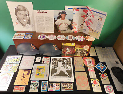Boston Red Sox lot 250++ Collectibles Yaz Fisk Boggs Ted Williams Foxx Cronin