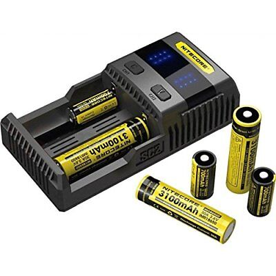 Nitecore Caricabatterie Nitecore SC2 Superb Charger universale con display led