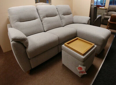 G PLAN SPENCER 3 Seater Chaise End Sofa, Power Recliner ...