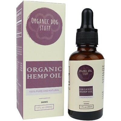 Organic Hemp Oil for Pets. Ideal for Dogs, Cats, or Rabbits. 500mg, 30ml Bottle