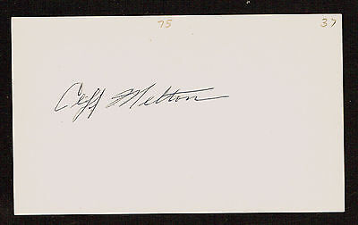 Cliff Melton (d. 1986) signed autograph Baseball 3x5 Index Card 3074-02