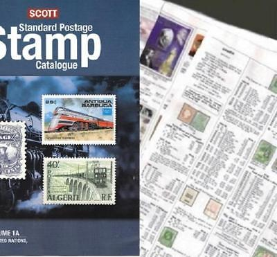 USA United States 2019 Scott Catalogue Pages 1-216