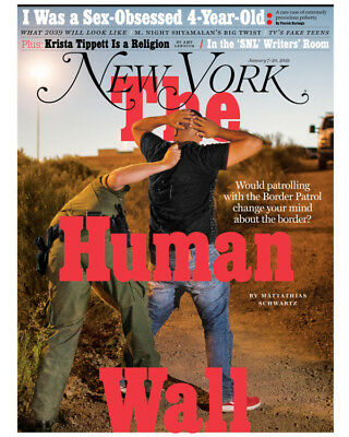New York ~ January 2019 Magazine The Human Wall