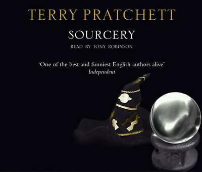Sourcery: (Discworld Novel 5) by Terry Pratchett Compact Disc Book Free Shipping