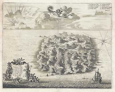 1686 Dapper View of St. Helena Island