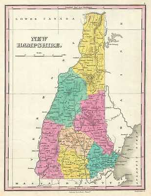 1828 Finley Map of New Hampshire