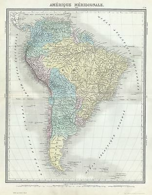 1874 Tardieu Map of South America