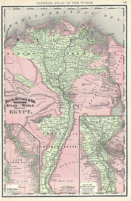 1892 Rand McNally Map of Egypt