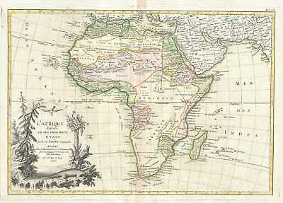 1762 Janvier Map of Africa