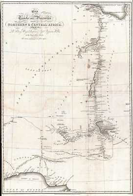 1826 Denham Map of Northern and Central Africa (Libya, Chad, Nigeria)