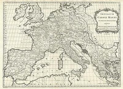 1768 Kitchin Map of Europe under Charlemagne