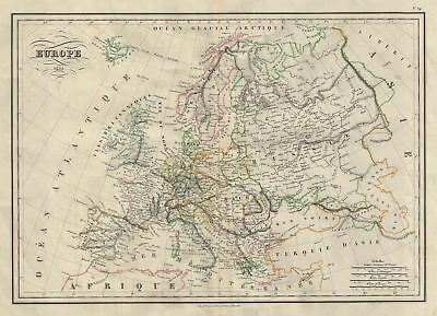 1835 Malte-Brun Map of Europe