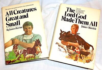 James Herriot 2 Lot All Creatures Great Small 1972 Lord God Made Them All 1981
