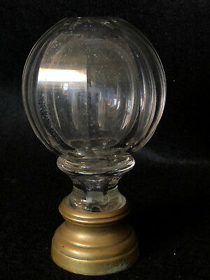 Antique Ball Staircase Crystal A Pan Cuts Base Bronze 19 # C1319