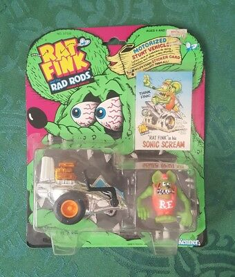 RAT FINK and the Rad Rods in his SONIC SCREAM New 1990 Kenner MOC Ed Roth