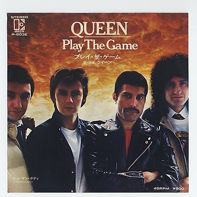 """Queen - Play The Game c/w A Human Body 7"""" JAPAN 45"""