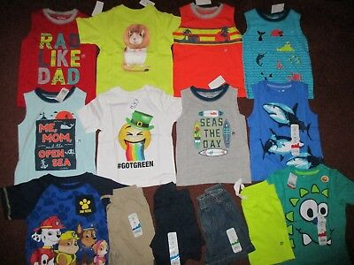 NWT Toddler Boys Size 2T Spring & Summer Lot of Clothes Outfits NEW!!