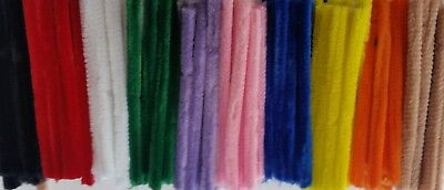 Craft Pipe Cleaners Chenille Stems 12mm x 15cm 500 pk BULK BUY FREE POST