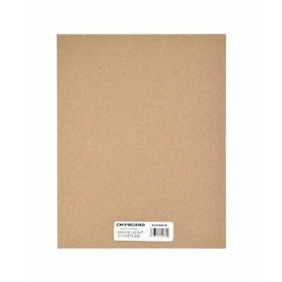 Grafix Medium Weight Chipboard Sheets, 4-inch By 6-inch, Natural, 25-pack -