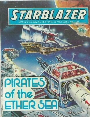 Pirates Of The Ether Sea,starblazer Space Fiction Adventure,comic,no.100