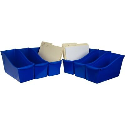 "Storex Large Book Bin 14.3""x5.3""x7""-blue"