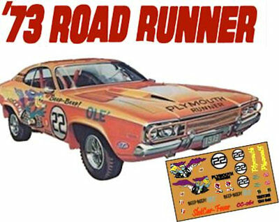 Toys & Hobbies Cd_ca_006 Plymouth Road Runner Decals 1:18 Scale Decals