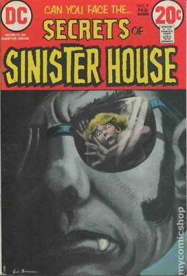Secrets of Sinister House #9 1973 VG- 3.5 Stock Image Low Grade
