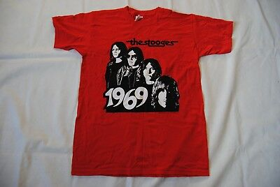 The Stooges 1969 Band Image T Shirt New Official Iggy Pop Fun House Raw Power