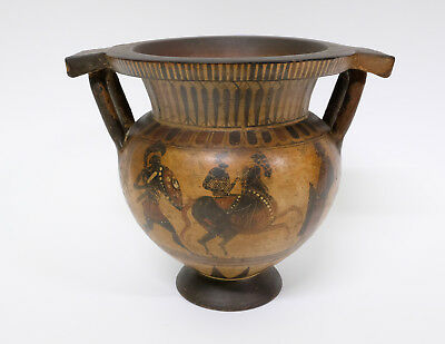 Beautiful Antique Greek Amphora Vase with Traditional Decoration