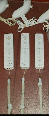 Nintendo OEM Remote Wiimote And Nunchuck For Wii And Wii U TESTED (WHITE)
